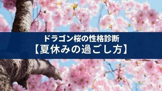 ドラゴン桜の性格診断